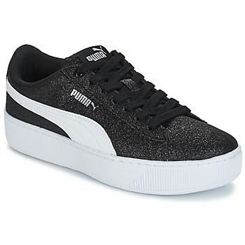 Zapatos Niños Zapatillas bajas Puma VIKKY PF GLIT J Negro