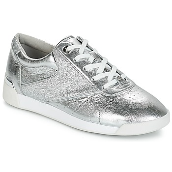 Zapatos Mujer Zapatillas bajas MICHAEL Michael Kors ADDIE LACE UP Plata