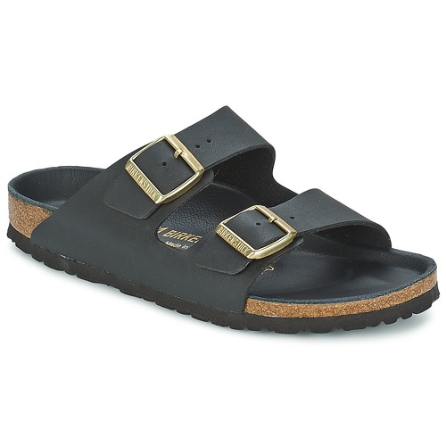Zapatos Mujer Zuecos (Mules) Birkenstock ARIZONA Negro / Dorado