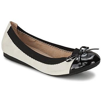 Zapatos Mujer Bailarinas-manoletinas Moony Mood VADOUMI Blanco / Negro