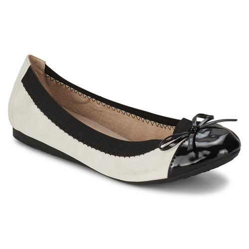 Zapatos Mujer Bailarinas-manoletinas Moony Mood ELALA Blanco / Negro