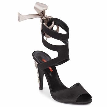 Zapatos Mujer Sandalias Charles Jourdan MADNESS Negro / Arena