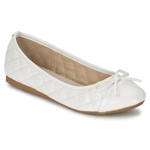 Zapatos Mujer Bailarinas-manoletinas Moony Mood VOHEMA Blanco / Barniz