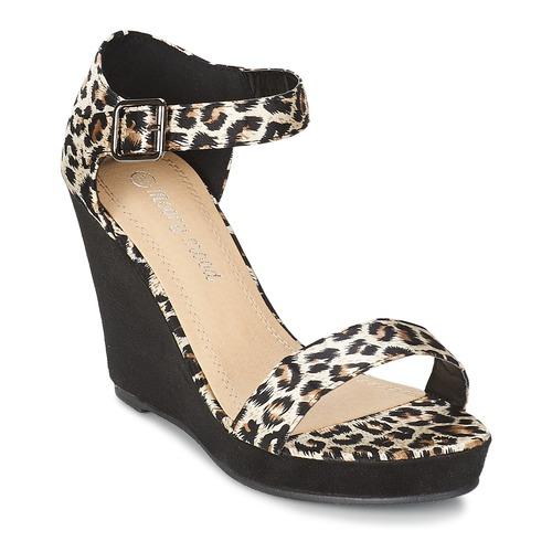 Mujer Mood Ivonga NegroLeopardo Sandalias Zapatos Moony cTF1JlK