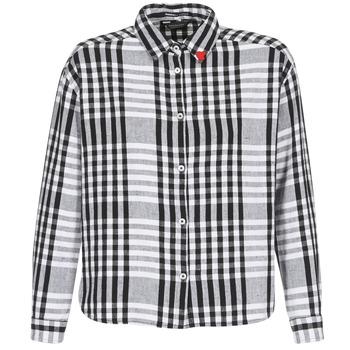 textil Mujer camisas Scotch & Soda FRINDA Negro / Blanco