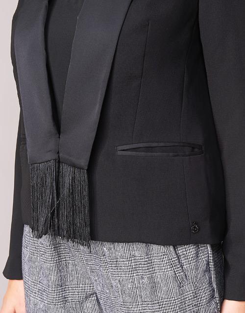 Mujer Scotch Textil Maison ChaquetasAmericana Negro Boukoum 0NP8OXwkn