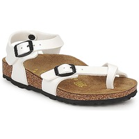 Zapatos Niña Sandalias Birkenstock TAORMINA Blanco / Barniz