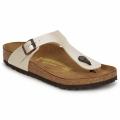 Zapatos Mujer Chanclas Birkenstock GIZEH Crema