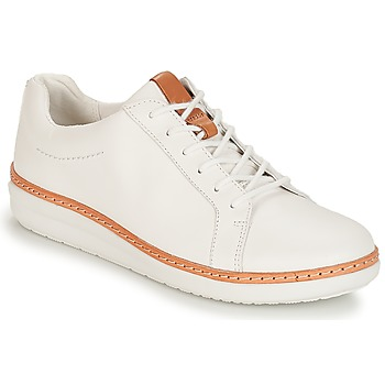 Zapatos Mujer Derbie Clarks Amberlee Rosa White Blanco
