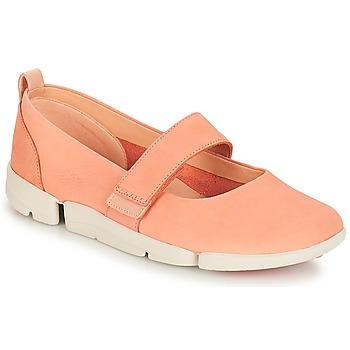 Zapatos Mujer Bailarinas-manoletinas Clarks Tri Carrie Pink / Nubuck