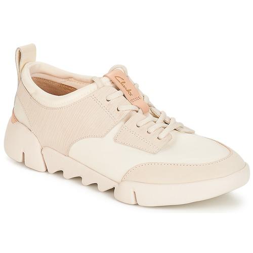Zapatos Mujer Zapatillas bajas Clarks Tri Spirit Blanco / Combi