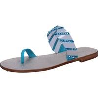 Zapatos Mujer Sandalias Eddy Daniele AW487 Azul