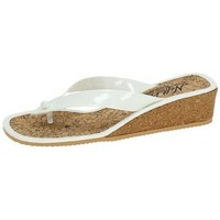 Zapatos Mujer Sandalias Nellakis Chanclas de verano Blanco