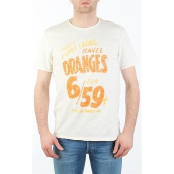 textil Hombre Camisetas manga corta Lee MARCANTILE L668ABBC blanco
