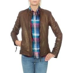 textil Mujer Chaquetas / Americana Wrangler skórzana  WR4030ZC81 marrón