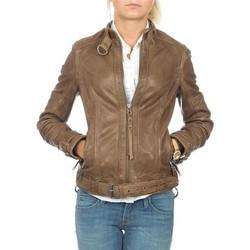 textil Mujer Chaquetas / Americana Wrangler skórzana  Montana WR4044ZCBR marrón