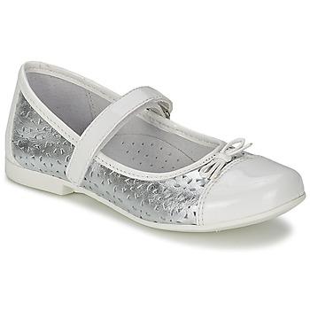 Zapatos Niña Bailarinas-manoletinas Citrouille et Compagnie JILENA Plateado / Blanco