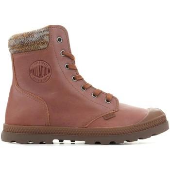 Zapatos Mujer Botas de caña baja Palladium Pampa Knit LP F 95172-733-M marrón