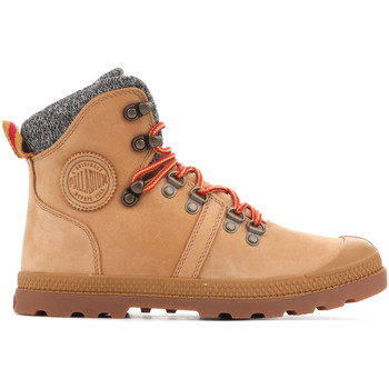 Zapatos Mujer Botas de caña baja Palladium Manufacture Pallabrouse Hikr 95140-278 marrón