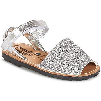 Zapatos Niña Sandalias Citrouille et Compagnie SQUOUBEL Plata