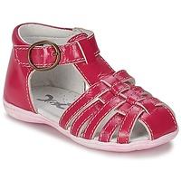 Zapatos Niña Sandalias Citrouille et Compagnie TRAMELLE Fucsia