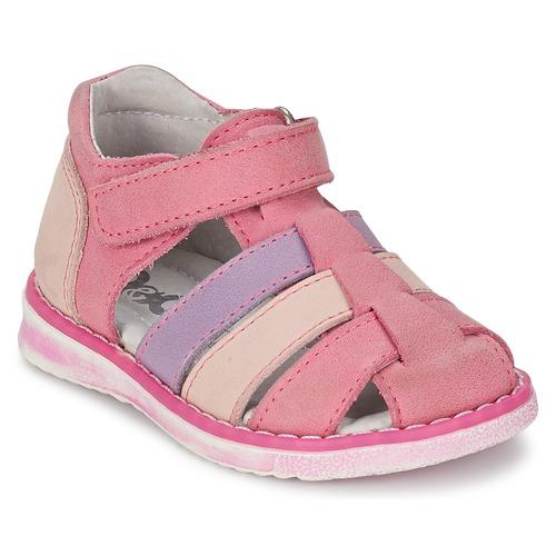 Zapatos Niña Sandalias Citrouille et Compagnie CHIZETTE Lilas / Rosa / Fucsia