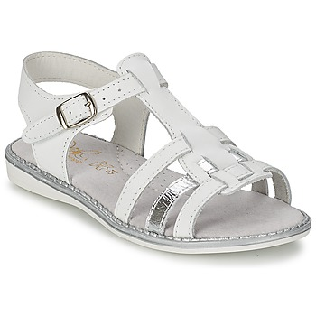 Zapatos Niña Sandalias Citrouille et Compagnie ROLUI Blanco