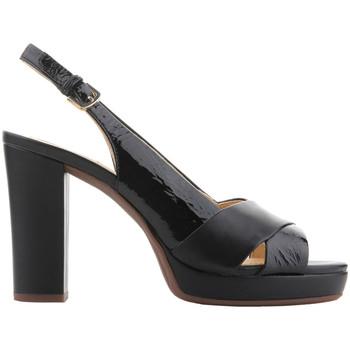 Zapatos Mujer Sandalias Geox D Mauvelle C - Naplak+ Geobuck D724LC 06758 C9999 negro