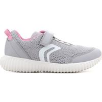 Zapatos Niños Sandalias Geox J Waviness G.C J826DC 01454 C1296 gris, rosado