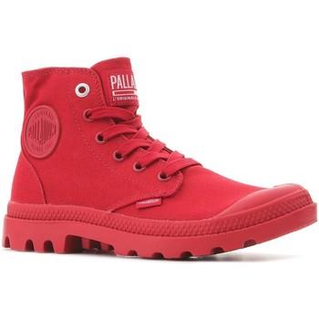 Zapatos Zapatillas altas Palladium Manufacture Pampa Hi Mono U 73089-607-M rojo