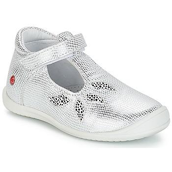 Zapatos Niña Bailarinas-manoletinas GBB MARGOT Vte / Plateado / Dpf / Zafra