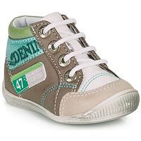 Zapatos Niño Botas de caña baja GBB PANCRACE Blanco / Verde / Topotea