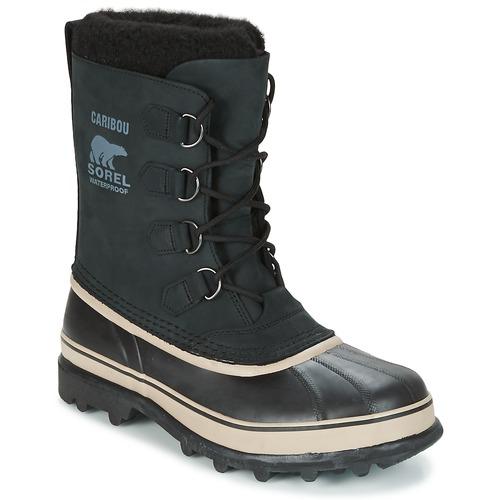 Zapatos especiales para hombres y mujeres Sorel CARIBOU Negro