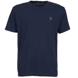 textil Hombre camisetas manga corta Gant SOLID Marino