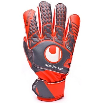 Accesorios textil Guantes Uhlsport Aerored Starter Soft Niño Dark grey-Fluor red