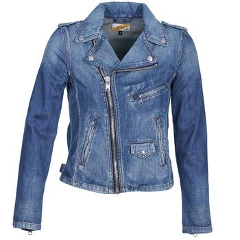 textil Mujer chaquetas denim Schott JANIS Azul