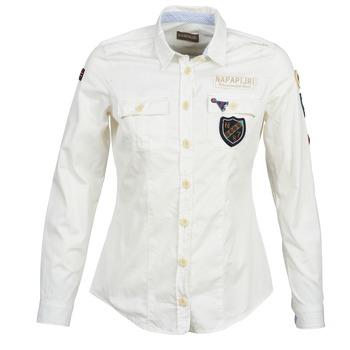 textil Mujer camisas Napapijri GLENDA Blanco