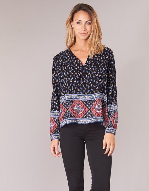 TopsBlusas Mujer Wasas Attitude Casual Textil Multicolor Negro mw8nN0