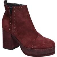 Zapatos Mujer Botines Moma botines burdeos gamuza BX10 rojo