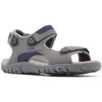 Zapatos Hombre Sandalias Geox Strada WF Gris