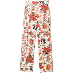 textil Mujer Pantalones fluidos Desigual 18SWPW15 Bianco