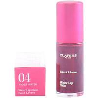 Belleza Mujer Gloss  Clarins Water Lip Satin 04-violet Water  7 ml