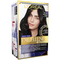 Belleza Mujer Tratamiento capilar L'oréal Excellence Brunette Tinte 200-true Darkest Brown 1 u