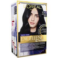Belleza Mujer Tratamiento capilar L'oréal Excellence Brunette Tinte 100-true Black 1 u