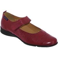 Zapatos Mujer Bailarinas-manoletinas Mephisto Valerina perf Cuero burdeos