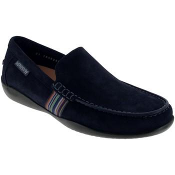 Zapatos Hombre Mocasín Mephisto Idris Ante azul marino