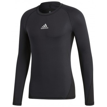 textil Hombre camisetas manga corta adidas Originals Alphaskin Sport LS Negros