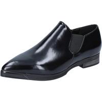 Zapatos Mujer Mocasín Francescomilano slip on mocasines negro cuero BX327 negro