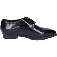 Zapatos Mujer Richelieu Francescomilano elegantes negro cuero BX328 negro