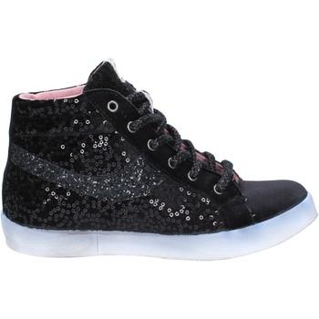 Zapatos Mujer Zapatillas altas Fiori Di Picche sneakers negro velluto lentejuelas BX345 negro